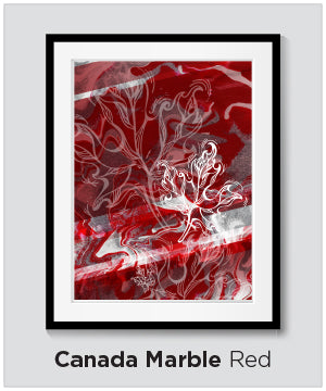 Canada Marble - Wearable Art by Kristina Benson Art
