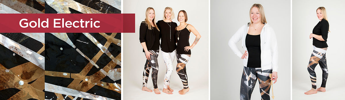 Gold Electric - Universe Collection - Kristina Benson - Leggings and Capris