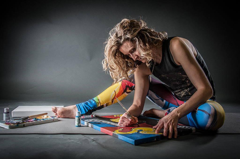 Kristina Benson Art - Yoga Leggings and Wearable Art