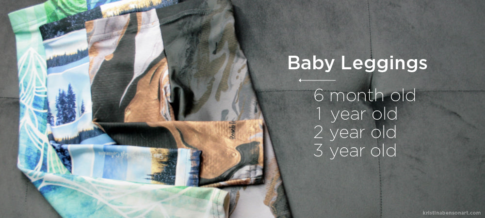 Baby Leggings - incredibly soft and durable and made in Canada!
