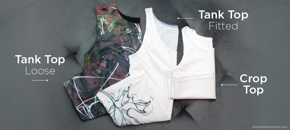 Tank tops and crop tops - Canadian made