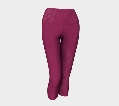 Good Vibes Magenta - Yoga Capris