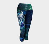 Canada Marble - Multi Blue Green - Yoga Capris