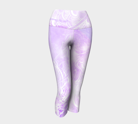 Wings Like Eagles Lavender - Yoga Capris