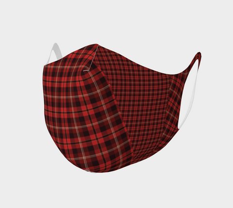 Tartan with a Twist, Red - Face Covering - Double Knit Poly