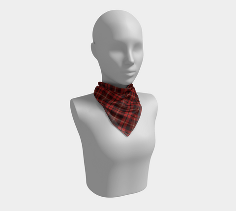 Tartan with a Twist, Red - Square Scarf