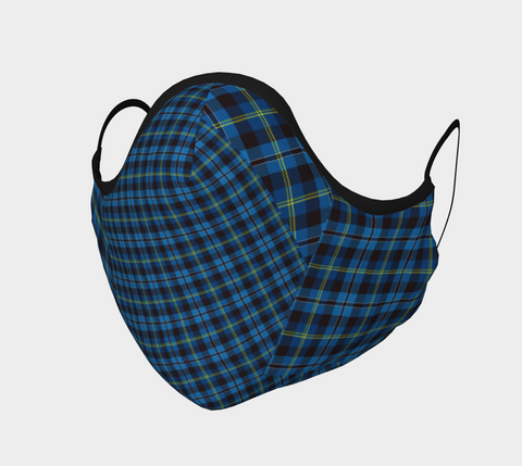 Tartan Blue - Face Covering - Cotton Sateen