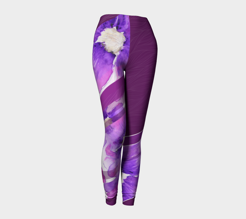 Clematis Painting - Leggings