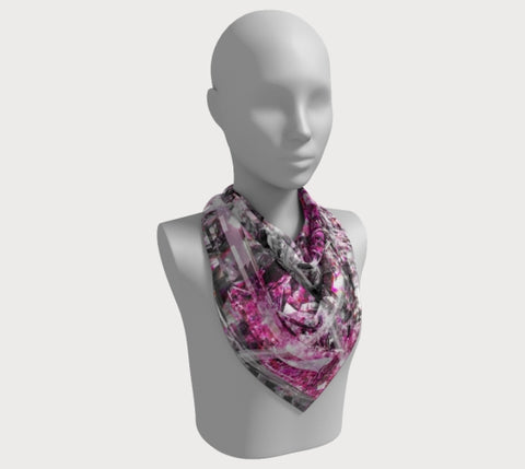 "Shine Fuschia - 36"" Square Scarf"