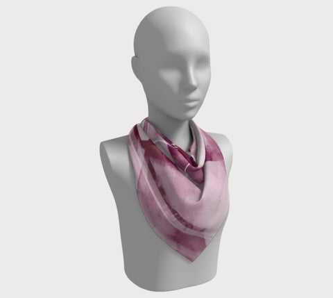 "Infinite Love Plum - 36"" Square Scarf"
