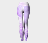 Wings Like Eagles Lavender - Yoga Leggings