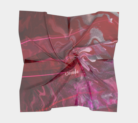 Canada Marble, Pink Red - Square Scarf