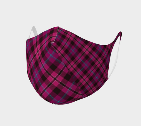 Tartan with a Twist, Pink - Face Covering - Double Knit Poly