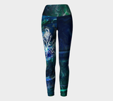Canada Marble - Multi Blue Green - Yoga Leggings