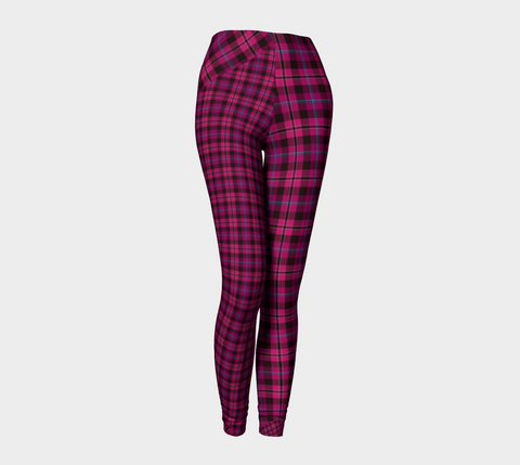 Tartan with a Twist, Pink - Leggings