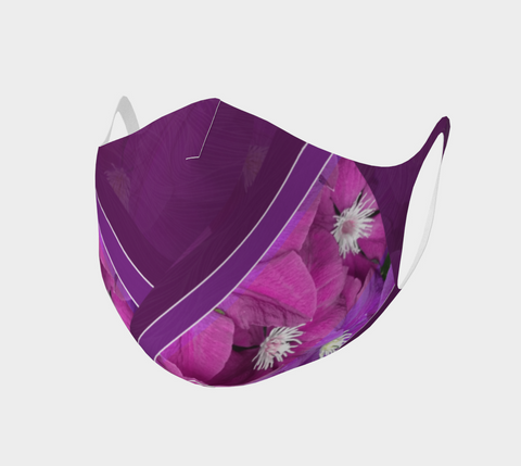Clematis Picture - Face Covering - Double Knit Poly