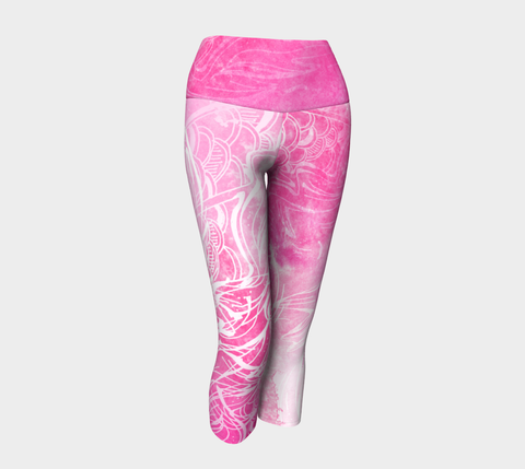 Wings Like Eagles Pink - Yoga Capris
