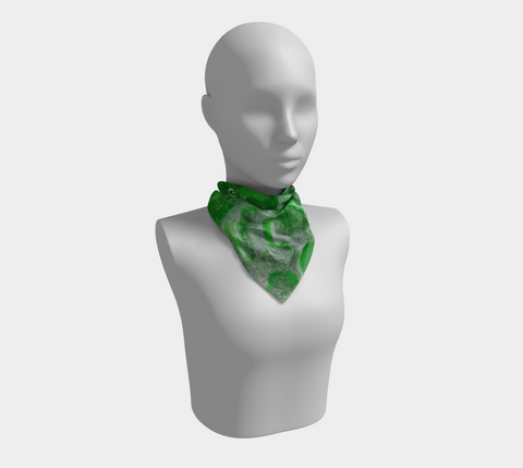 Canada Marble, Green - Square Scarf