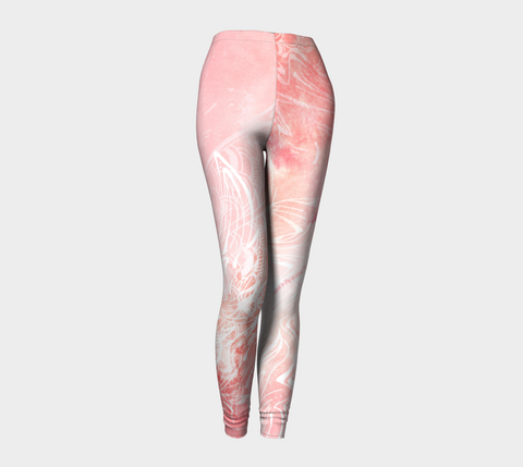 Wings Like Eagles Peach - Leggings