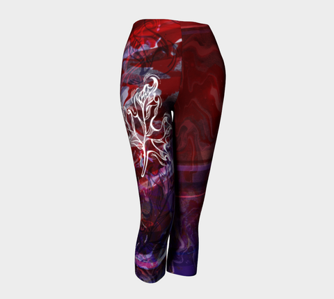 Canada Marble - Multi Red Purple - Capris