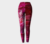 Canada Marble - Multi Pink Red - Leggings