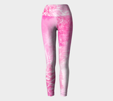 Wings Like Eagles Pink - Yoga Leggings