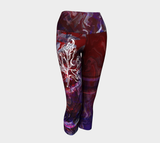 Canada Marble - Multi Red Purple - Yoga Capris