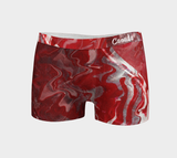 Canada Marble, Red - Women's Boyshorts