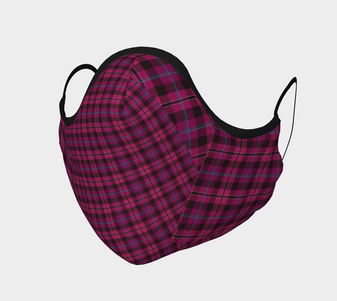 Tartan Pink - Face Covering - Cotton Sateen
