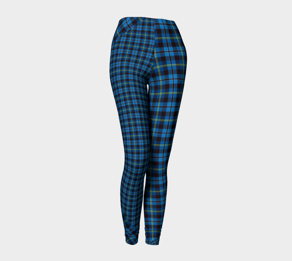 Tartan with a Twist, Blue - Leggings
