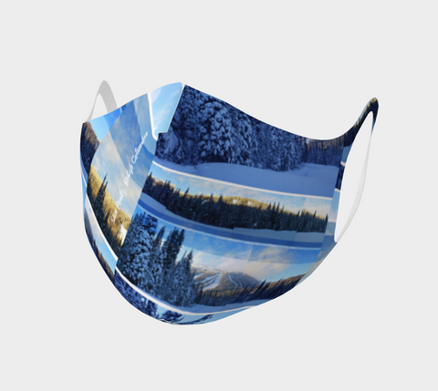 Sun Peaks Resort - Face Covering - Double Knit Poly