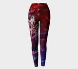 Canada Marble - Multi Red Purple - Leggings