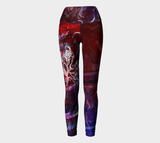 Canada Marble - Multi Red Purple - Yoga Leggings