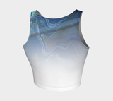Canada Marble, Blue Green - Crop Top