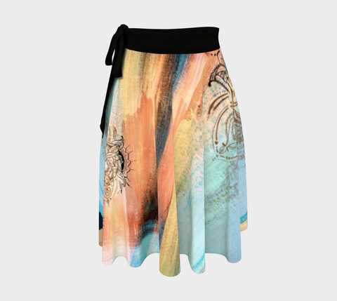 Lotus Creamsicle - Wrap Skirt