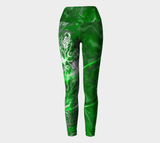 Canada Marble - Green - Yoga Leggings