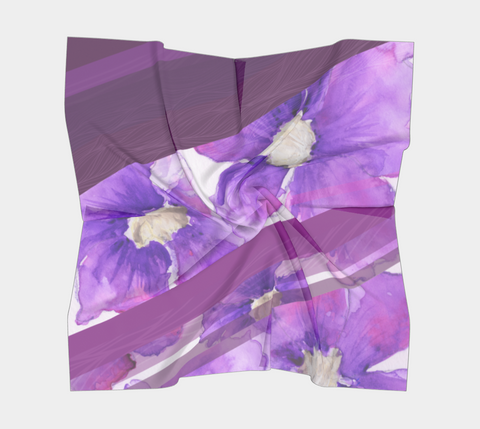 Clematis Painting - Square Scarf