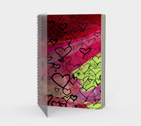 Love Hearts - Spiral Notebook