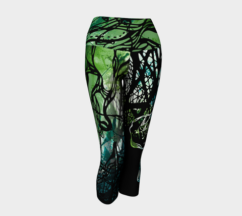 LARGE - Be Strong - Yoga Capris