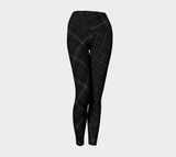 Tartan with a Twist, Spartan Tartan - Yoga Leggings