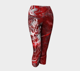 Canada Marble - Red - Yoga Capris