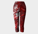 Canada Marble - Red - Capris