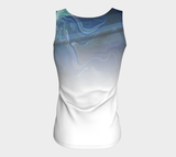 Canada Marble, Blue Green - Fitted Tank Top