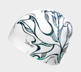Canada Marble, White, Blue Green Maple Leaf - Beanie