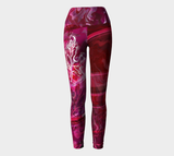 Canada Marble - Multi Pink Red - Yoga Leggings