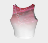Canada Marble, Pink Red - Crop Top