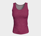 Good Vibes Magenta - Fitted Tank Top