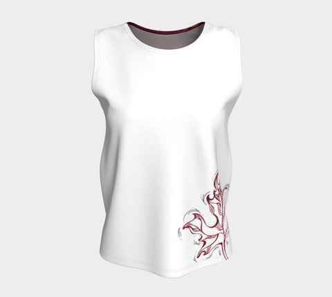 Canada Marble, Pink Red - Loose Tank Top