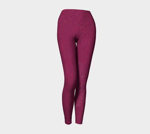 Good Vibes Magenta - Yoga Leggings