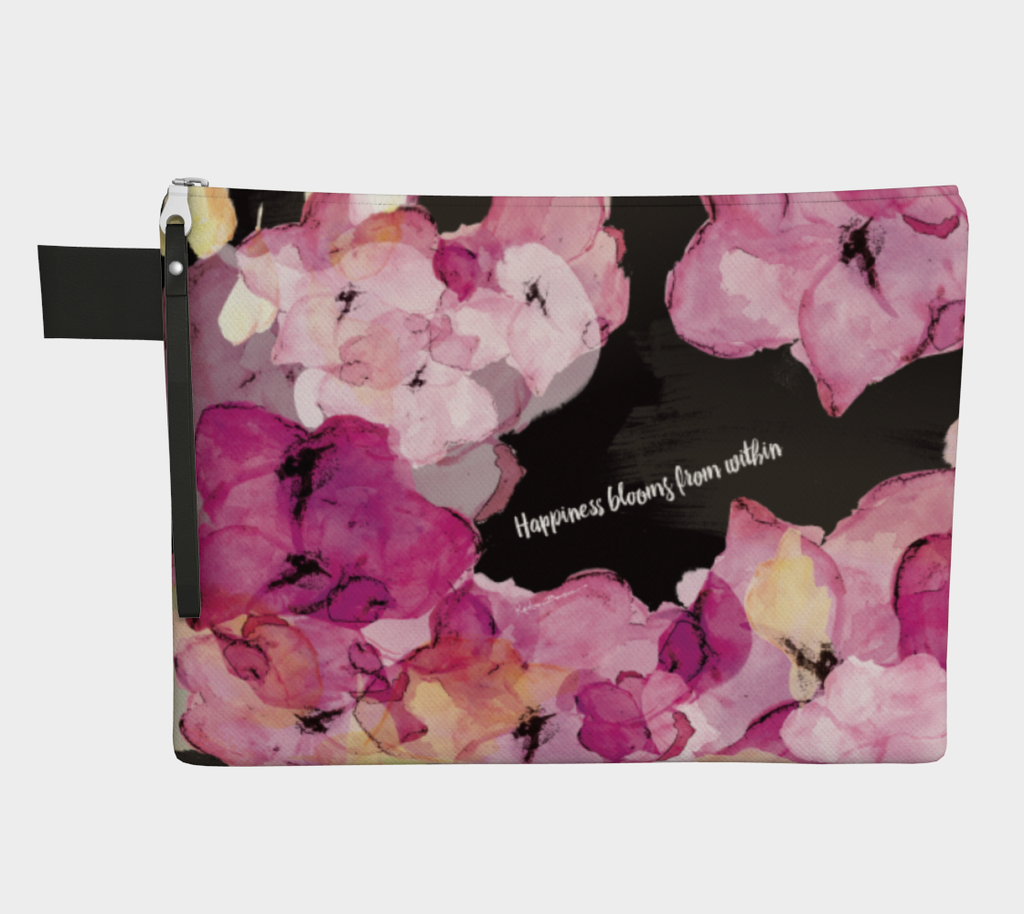 Happiness Blooms - Zipper Carry-All
